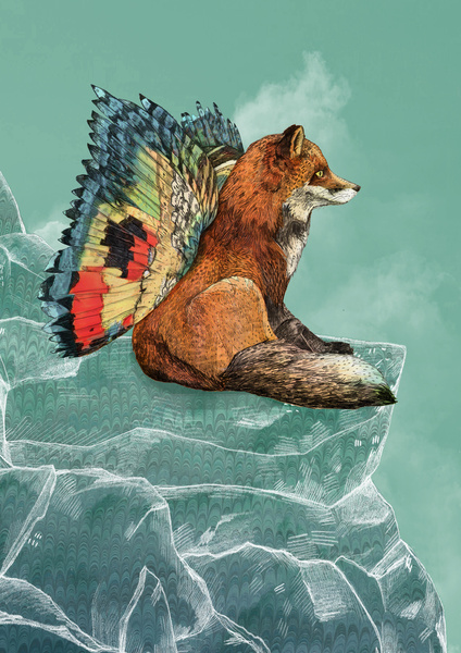 Flying Fox by Sandra Dieckmann on Society6