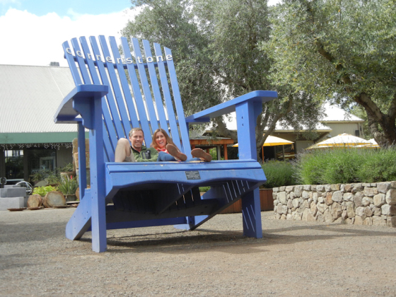 The big blue chair in Sonoma.