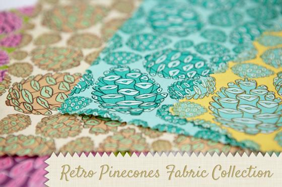 Retro Pinecones Pattern Collection {Plus Fabric & Wallpaper}