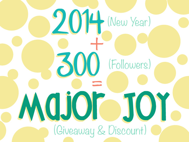 300 Facebook Followers & 2014!