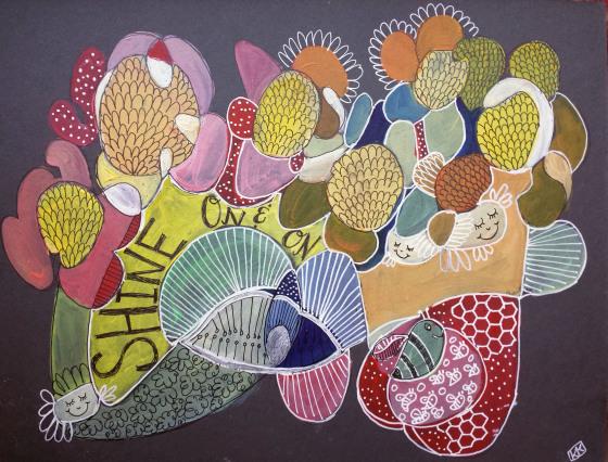#cbsketchbooking Creative Bug Sketchbooking Class with Pam Garrison Sunflowers by Joyful Roots