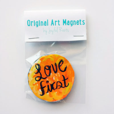 Love First Mantra Magnet