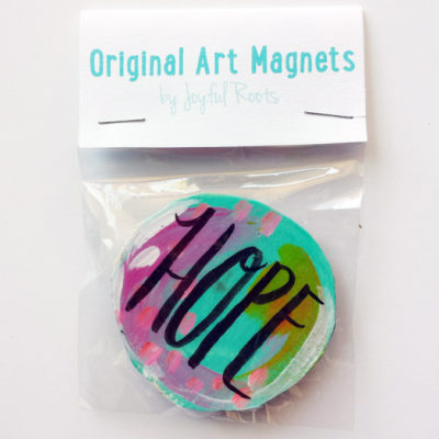 Hope Original Art Mantra Magnet