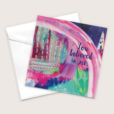 You Believed In Me, Mystical Mountains Art Greeting Card Bisbee Artist