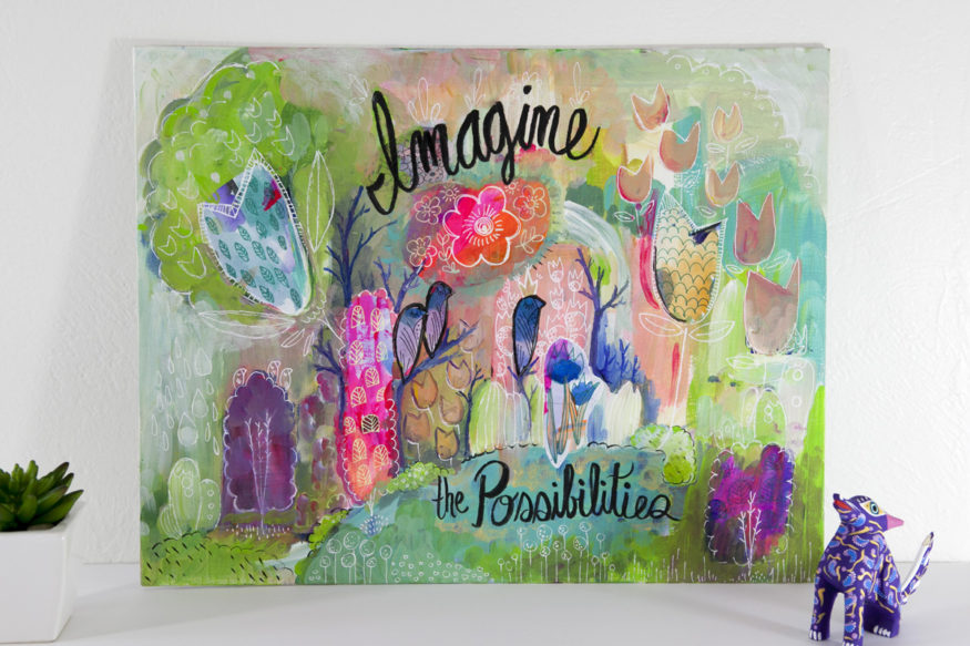 Imagine The Possibilities Colorful Magic Woodland Childrens Room Art Decor