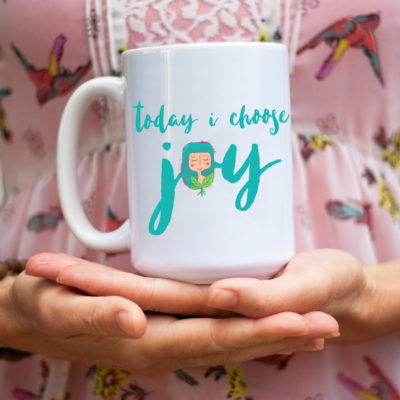 Home & Living Kitchen & Dining Drink & Barware Drinkware Mugs Made in USA Gift For Her Coffee Mug Motivational Gift Inspirational Mug Quote Mug Gift For Friend Under 30 Today I choose Joy Joy Mug Motivational Mug Quote Gift Inspirational Gift