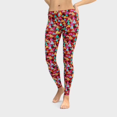 Bright Yoga Leggings, Colorful Pants, Pattern Stretch Pants, Printed Leggings, Original Art Clothing, Gift for Her, Hipster Gift