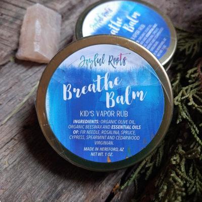 Kids Breath Balm Natural Vapor Rub Essential Oils Cypress, Fir, Cedarwood