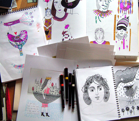 Sketchbooks by Cathy Connolley