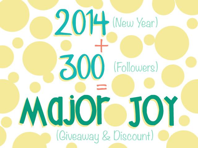 300 Facebook Followers & 2014!