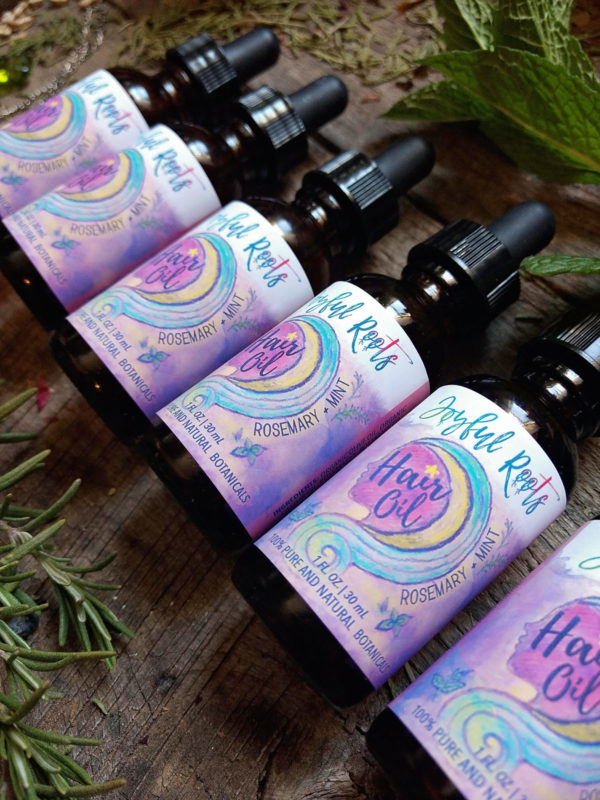 Rosemary and Mint Hair Oil for Growth and Repair